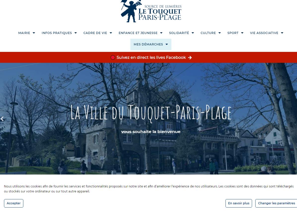 Le nouveau site internet de la Ville du Touquet-Paris-Plage est en ligne !  Info