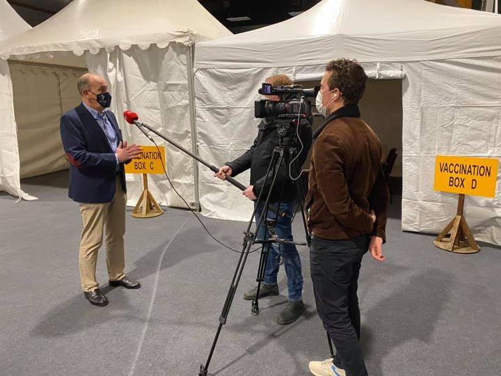 Cnews était au Touquet ce jeudi midi pour interviewer Daniel Fasquelle à propos