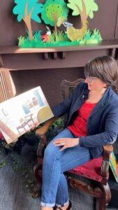Lecture avec Isabelle à la bibliothèque médiathèque du Touquet Paris Plage