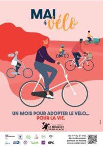 May be an image of bicycle and text that says 'MAI vélo 8 من UN MOIS POUR ADOPTER LE VÉLO... POUR LA VIE. Nature Elegance GOUVERNEMENT F PARIS-PLAGE H APiC Du 1or 31 mai des évènements partout en France www.maiavelo.fr'