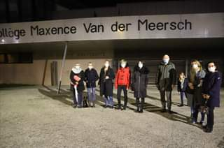 May be an image of one or more people, people standing and text that says 'Maxence xence Van der Meersch'