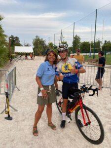 Race across  Marielle Parent, l'adjointe aux sports, est allée soutenir Édouard